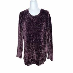 Orvis Plum Chenille Pullover Sweater Size L